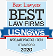 Best Lawyers - Best Law Firms | U.S. News | Appellate Practice - Tier 1 - Stamford | 2020