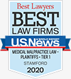 Best Lawyers - Best Law Firms | U.S. News | Medical Malpractice Law - Plaintiffs - Tier 1 - Stamford | 2020